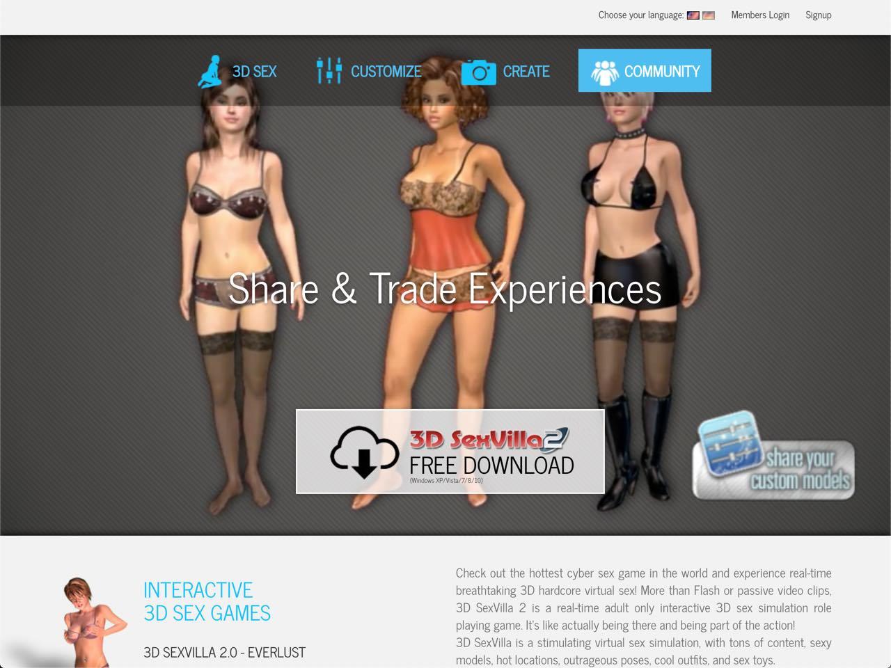 free membership 3d sex games