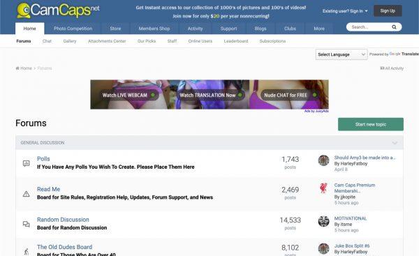camcaps.net forum